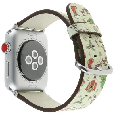 38 mm Genuine Leather Replacement for iWatch Series 3/2/1 Beautiful Beautiful Christmas