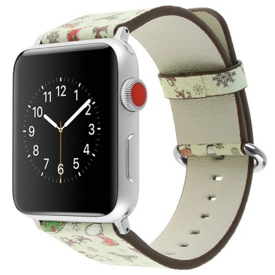 42mm Genuine Leather Replacement for iWatch Series 3/2/1 Beautiful Beautiful Christmas