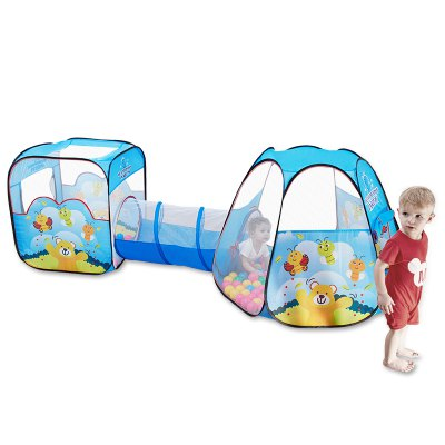 NuKied Children Cartoon Honeybee Pattern Tents 3PCS