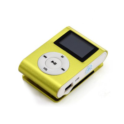 Superior Mini USB Metal Clip MP3 Player LCD Screen Support 32GB Micro SD TF Card Slot with USB Cable