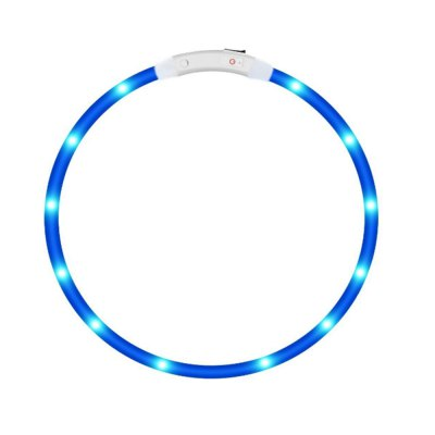 Yeshold LED Dog Necklace Collar USB Rechargeable Safety Waterproof Light Adjustable Flashing Pet Neck Loop