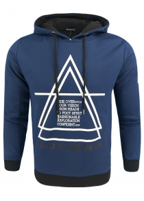 Men Spring and Autumn Long-Sleeved Hooded Printing Casual Fashion Hoodie