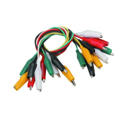 Test Leads with Alligator Clips Electrical - Multicolored (10 Pack)