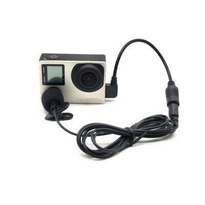 For Gopro Hero 3/3+/4 3.5mm Mini Microphone Adapter Accessories