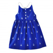SOSOCOER Girls Dresses The 2018 Summer Anchor Print Halter Dress