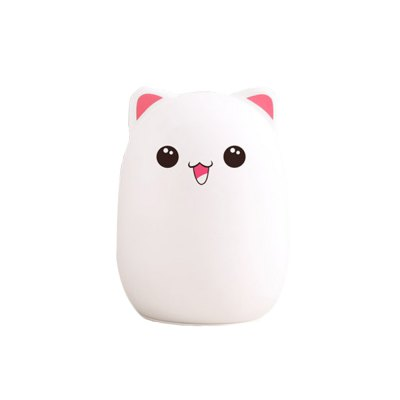 Lowely Bear Touch Cute Pet Colorful Silicone Mini Vacuum Animal Pat Light