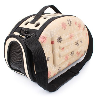 Lovely Floral Soft EVA Outdoor Travel Portable Dog Carriers Folding Pet Bag For Small Dogs Breathable