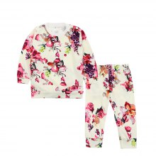 SOSOCOER Kids Girls Clothes Set 2018 Fashion Flower Printed Long Sleeved T-Shirts and Pants Two Pieces