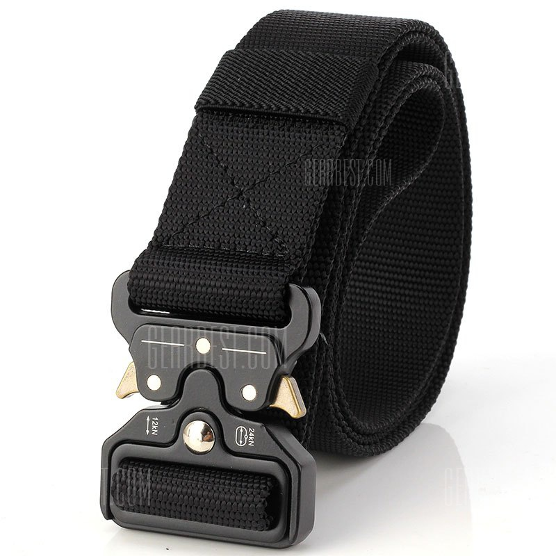 Quick Dry Multi-Function Tactical Military Belt Outdoor Hiking Nylon Belt with Metal Buckle