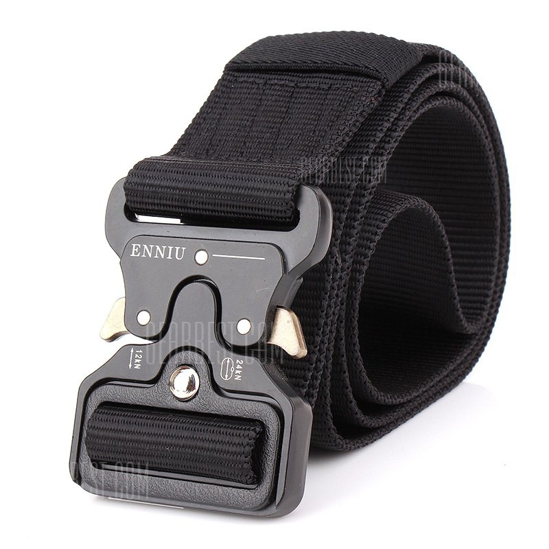 ENNIU Multi-Function Tactical Military Style Shooters Nylon Weaving Belt with Metal Buckle