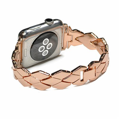 42MM Stainless Steel High Quality Rhombus Design Watch Strap Band For iWatch Series 3/2/1