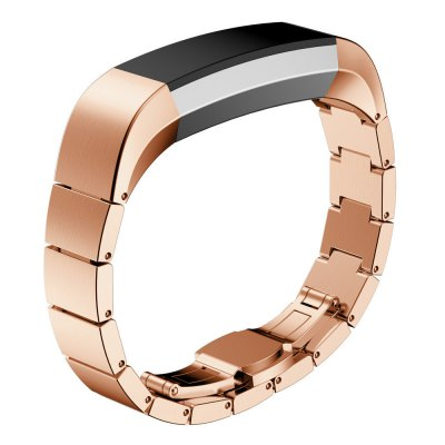 High Qulity Luxury Butterfly Buckle Wrist Watches Strap Stainless Steel Watch Bands For Fitbit Alta Smart Watch Accessor