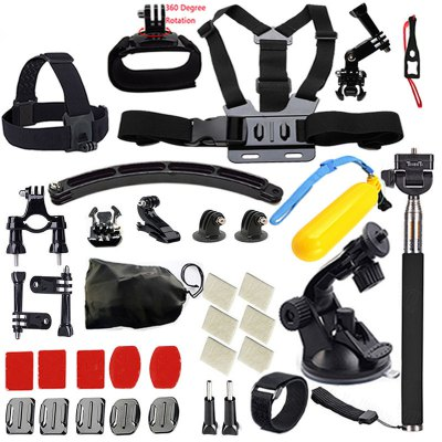 ZFY for GoPro Accessories Set Case Chest Belt Head Mount Strap for GoPro Hero 5/4/3/2/SJ5000X Kit