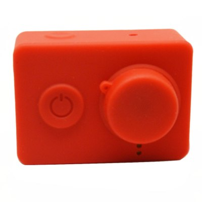 Silicone Rubber Protective Housing Case + Lens Cap Cover for Mi Yi 4K/4K+ Action Camera 2