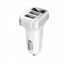 Dual USB Car Charger LED Display Voltage and Current for iPhone / iPad / Samsung Galaxy / LG /Google NexusOther