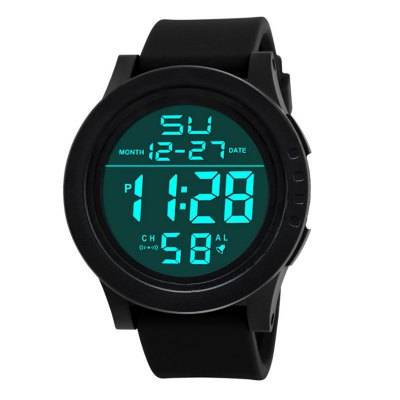 LED Waterproof Digital Quartz Watch Military Sport Men's