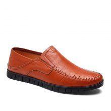 CROCODILE 2018 New Leather Flat Doug Men's Shoes 8082