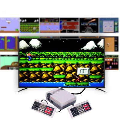 HDMI Port Mini TV Game Console Classic 600 Built-in Games 2 Controllers Family