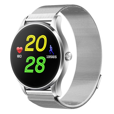 Star 37 Bluetooth Smart Sport Watch Heart Rate Monitor Polished by 3d Curved Screen Stainless Magnet Metal Strap 7 Dial