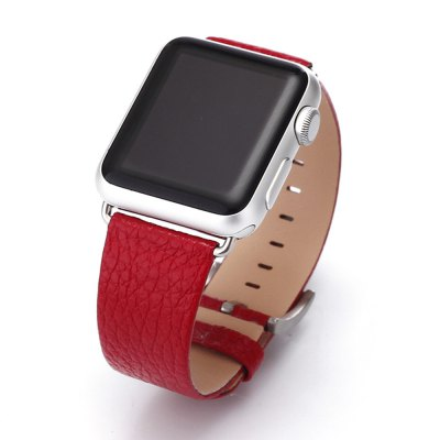 Lichee Pattern Luxury Leather Band For Apple Watch 1 2 3