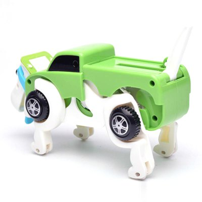 New products gadgets Automatic Transform Dog Car Vehicle Clockwork Wind Up Toy for Children