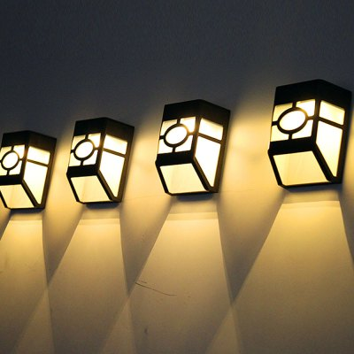 1PCS Outdoor Courtyard Les Loges Du Park Hotel Lamp Wall Lamp Waterproof Wall Fence Staircase Lamp Solar Street Lamp