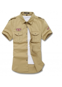 Summer New products gadgets Mens Short Sleeves Military Uniform Shirt
