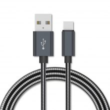 1M All Metal Fast Charging Data Sync Charger Cable for Xiaomi Huawei
