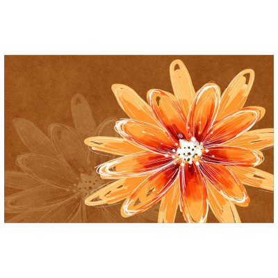 The Sun Flower Painting Flowers Stereo Flannel Doormat Mat