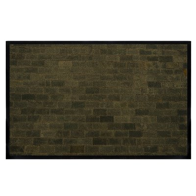 Dark Color System Brick Wall All Room With Water Absorbent Carpet