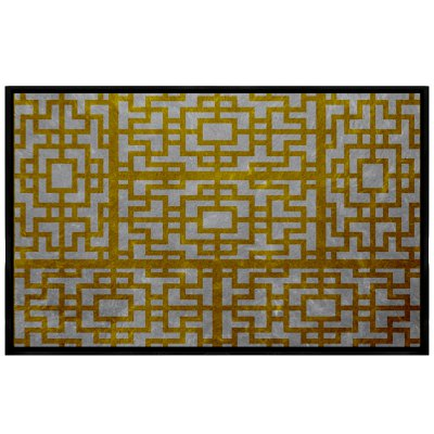 Chinese Style Window Pattern Retro Fringes Combined With Carpet Pads
