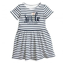 New 2018 Summer English Letter Printing Style Dress for Girl
