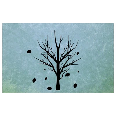 Abstract Hand Painted Trees And Deciduous Blanket Mats