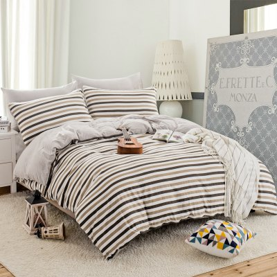 Thickened Suede Cotton Four-Piece Bedding