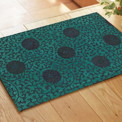 Retro Pattern Chinese Style Embroidered Carpet Mats