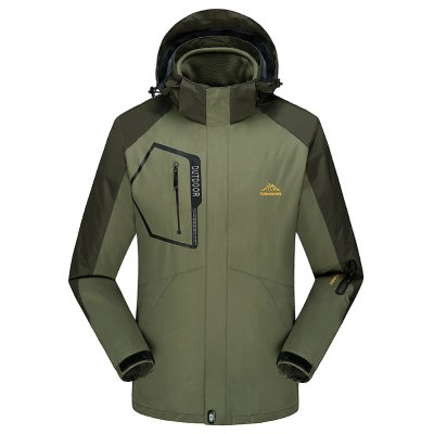 Fashion Slim Velvet Thick Waterproof and Dustproof Outdoor Jacket