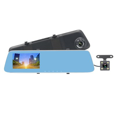 ZIQIAO JL-907T 4.3inch HD 1080p Starlight Night Vision Dual Cameras Car DVR & Rearview Mirror Car DVRr