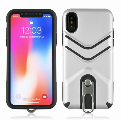 Kickstand Shock Proof Case For iPhone X Case Luxury Back Cases Cover