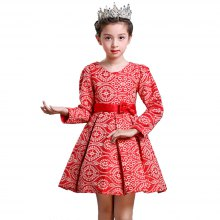 Girl'S Dress 2018 New Autumn and Winter Thickening Princess Daily Performance Clothing