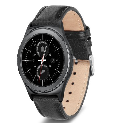 Benuo for Gear S2 Classic Genuine Leather Band Black