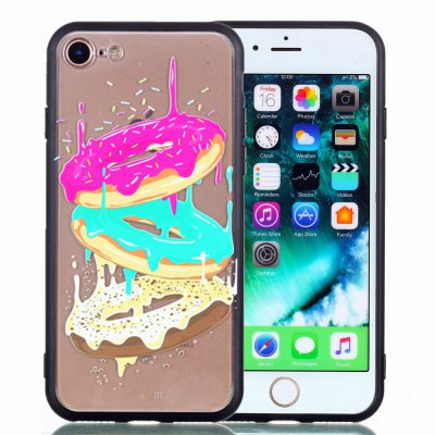 For iPhone 8 Phone Case Embossed Protective Cover