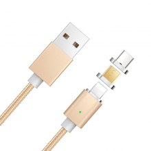 Newest 3 in 1 Nylon Braided USB Magnetic USB Charging Cable for iPhone Android Type-C Smartphones