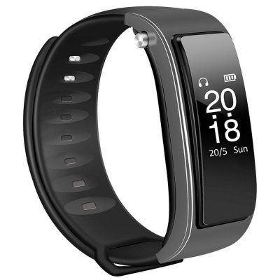 Smart Bracelet Watch Heart Rate Monitoring Motion Detection Bluetooth Headset Features Combined
