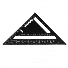 Aluminum Black Triangle Ruler