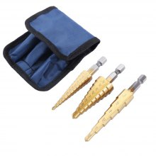 3PCS Set HSS Steel Large Step Cone Titanium Coated Metal Drill Bit Cut Tool Set Hole Cutter