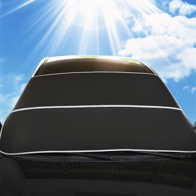 Car Foldable Windshield Visor Snowproof Cover Aluminum Foil Front Rear Block Window Sun Shade Accessories