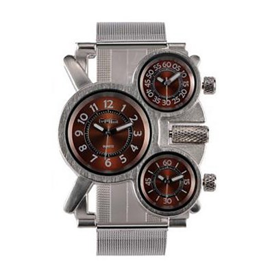 Male Wristwatch of Alloy Strap in Multi Time Foreign Trade Area