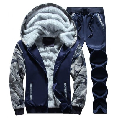 Winter Warm Hoodies Thicken Sports Suit