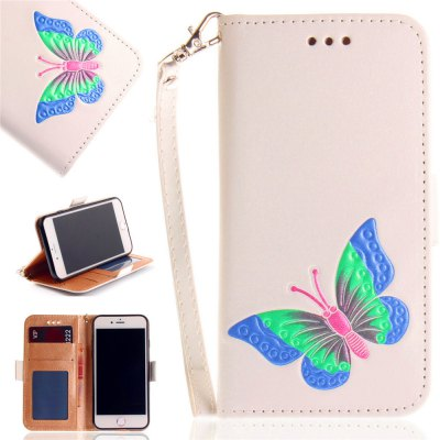 Hand-painted Butterfly Fashion Wallet Case For IPhone 8 Case PU luxury Flip Leather Case Phone Bag With Stand