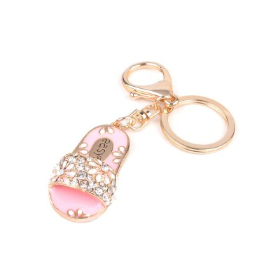 Creative Slippers Alloy Keys Keychain Girl Pendant Ornaments Small Gifts